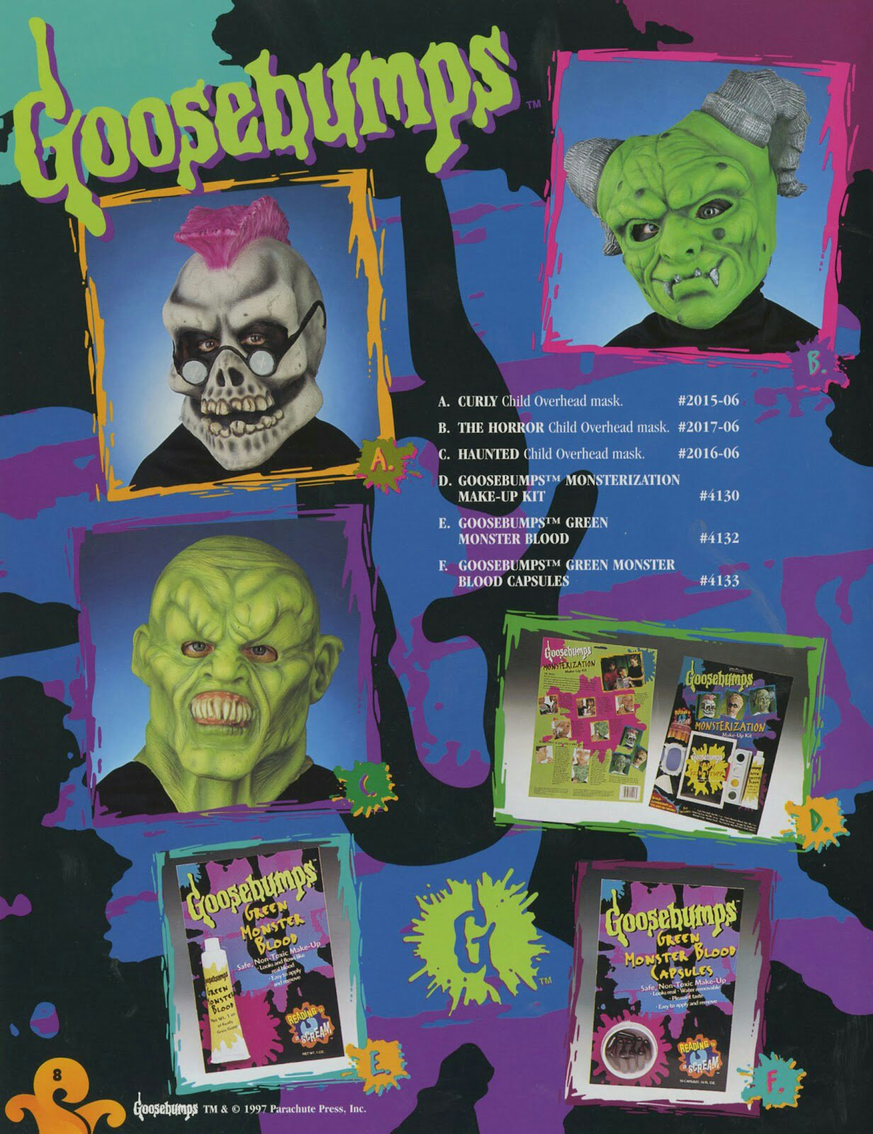 Goosebumps Masks